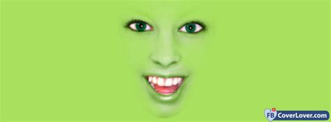 green face funny  cool facebook cover maker