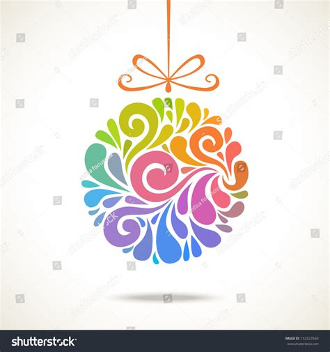 vector christmas decoration  swirl shapes stock vector