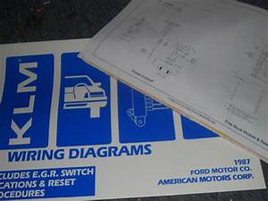 1987 Ford Taurus Mercury Sable Wiring Diagrams Schematics Manual Sheets Set