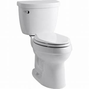 Kohler K 3609 0 Cimarron White Two Piece Elongated Bowl Toilets