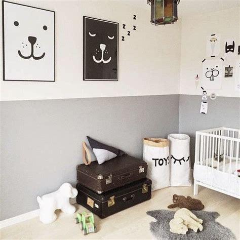 ideas  pintar la habitacion del bebe en dos colores