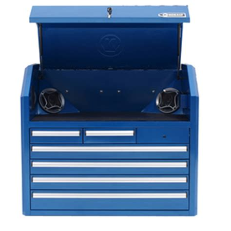 Kobalt Tool Cabinet With Stereo by Shop Kobalt 6 Drawer 35 In Steel Tool Chest Blue At