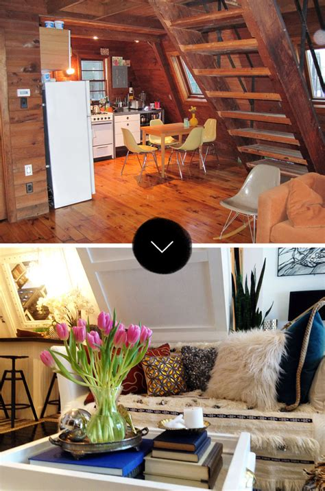 home interiors colors before after an a frame cottage gets an a renovation
