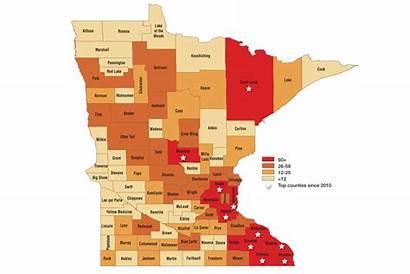 Map Bucks Trophy Zone Minnesota Mn Counties