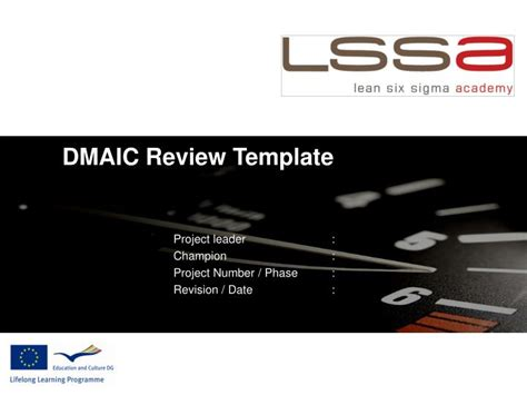 dmaic review template powerpoint  id