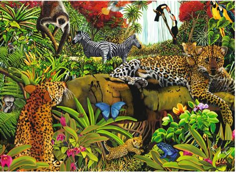 jigsaw puzzle  pieces maxi jungle animals