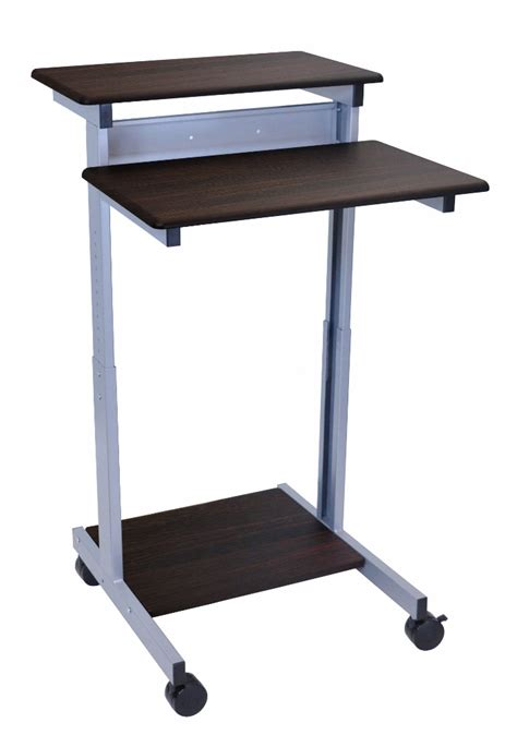 luxor stand up desk 24 quot adjustable stand up desk luxor standup 24 dw
