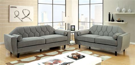 Contemporary Solid Wood Sofa Set Collection by Contemporary Sofa Loveseat Chair Gray 3pc Sofa Set Comfort
