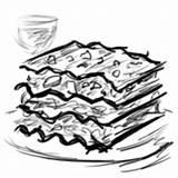 Lasagne sketch template