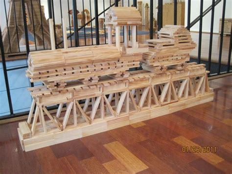 fancy train    delicate bridge kapla trains