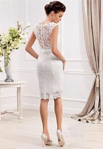 trouvez votre robe de mariee courte 70 magnifiques idees With robe pour mariage civil avec parure diamant mariage