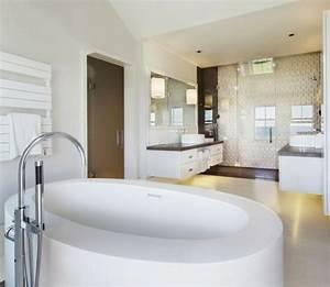 idee salle de bain moderne 60 idees comment la decorer With salle de bain design avec boite ronde à décorer