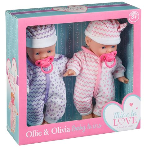 ollie olivia baby twin dolls dolls accessories bm