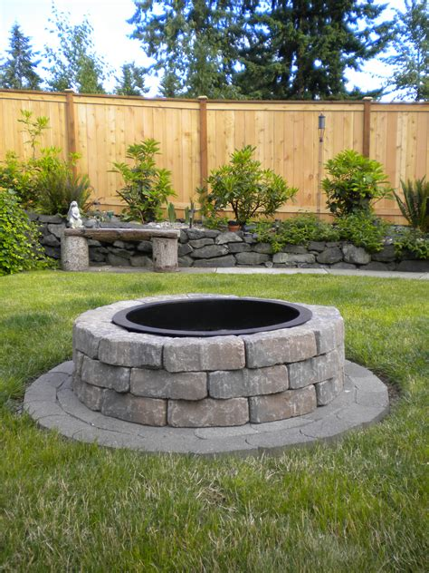 pit for garden fire pit done outdoors pinterest