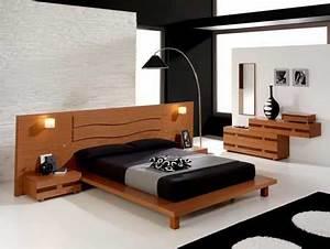 Lit Design Bois : un lit de r ve design dans sa chambre coucher ~ Teatrodelosmanantiales.com Idées de Décoration