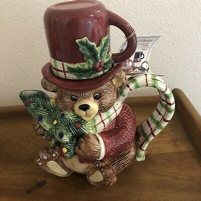 foto de FITZ and FLOYD Essentials Teapot w/ Cup Christmas Bear