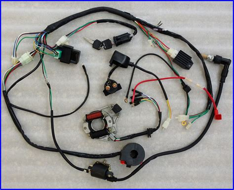 Honda 110 Atv Wiring Harnes For by 50 70 90 110cc Wire Harness Wiring Cdi Assembly Atv