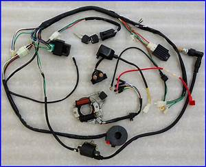 50 70 90 110cc Wire Harness Wiring Cdi Assembly Atv Quad