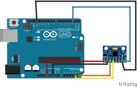 Fritzing Project – Arduino Uno GY-521
