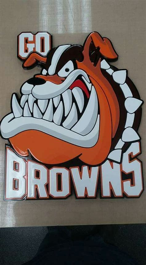 pin  jd england  dawg pound cleveland browns logo