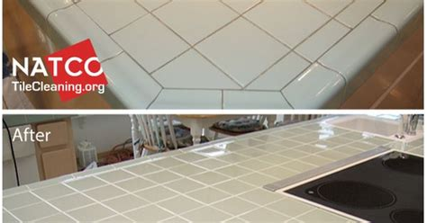 Regrouting Kitchen Tile Floor by Regrouting A Kitchen Tile Countertop With Green Tiles