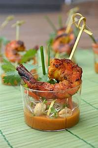 Shrimp Satay Skewer Shooters with Thai Spicy Peanut Sauce ...