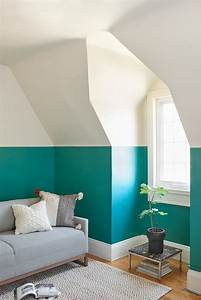 Kinderzimmer Streichen Dachschräge : zweifarbige wandgestaltung ideen und tipps f r stimmungsvolle w nde ~ Markanthonyermac.com Haus und Dekorationen