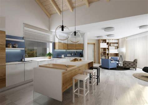 la meilleure cuisine cuisine avec ilot blanc et bois