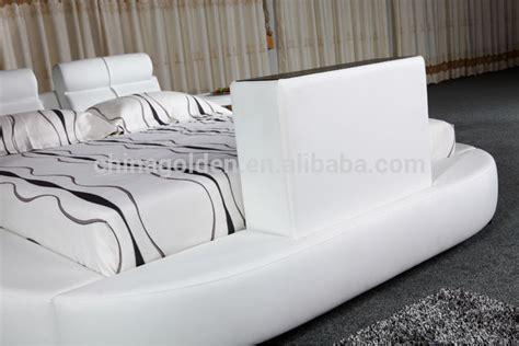G1031# Foshan Furniture Manufacturer King Size Leather Bed