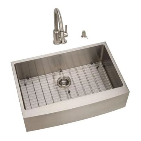 Kitchen Sink 33x22 Single Bowl vigo all in one farmhouse apron front stainless steel