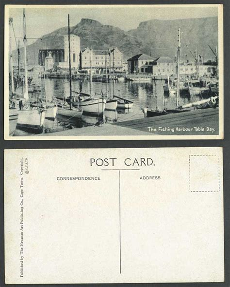Boat Auctions Cape Town by South Africa Postcard Fishing Harbour Table Bay Cape