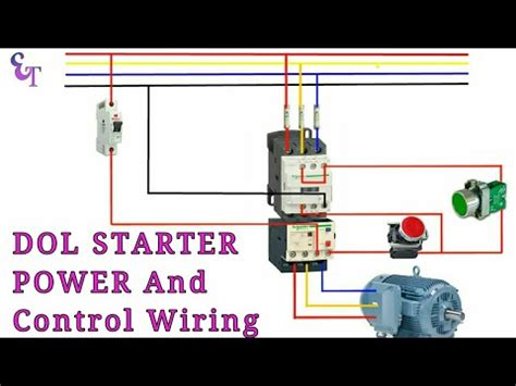 how to wire contactor overload relay with motor power
