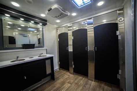 luxurious porta potty interior view