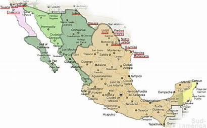 Mexico Zones Map Mapa Daylight Cities Baja