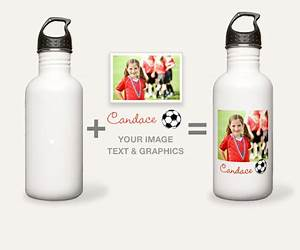 custom stainless steel water bottles cafepress With design your own water bottle