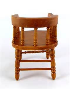 dolls house miniature furniture walnut wood firehouse captains chair ebay