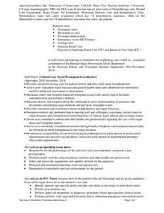 endoscopy resume exles dha rn cv