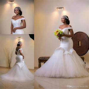 white sexy off shoulder african wedding dresses mermaid With white african wedding dress