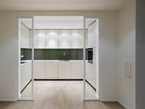 Kitchen Sliding Door For Cabinets Made From Glass