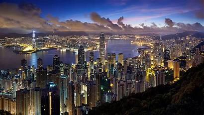 4k Night Ultra Wallpapers Lights Kong Hong