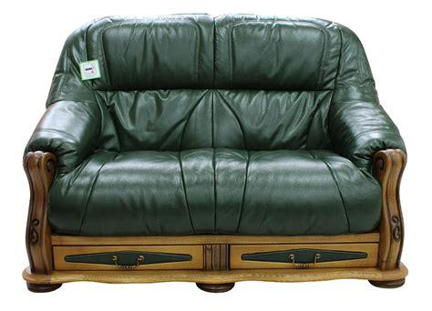 Storage Settee by Belgium Storage Drawer Genuine Italian Leather 2 Seater