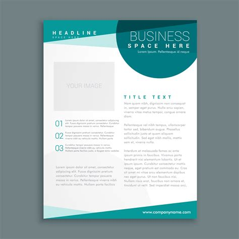 Brochure Size Template Simple Blue Brochure Design Template In Size A4