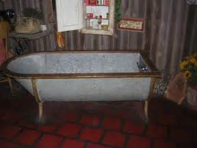 galvanized horse trough shower old metal bathtub