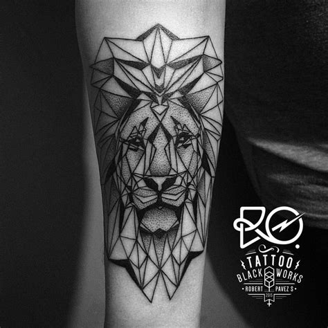 geometric lion ideas  pinterest geometric