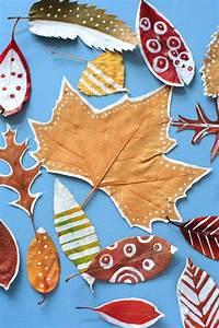 Tapisser Avec 2 Papiers Differents : bricolage enfants feuilles d automne d cor es ~ Nature-et-papiers.com Idées de Décoration