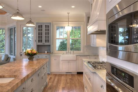 Another View Of The Kitchen In A Lakefront Home In