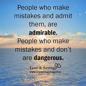 People who make mistakes – Love and Sayings