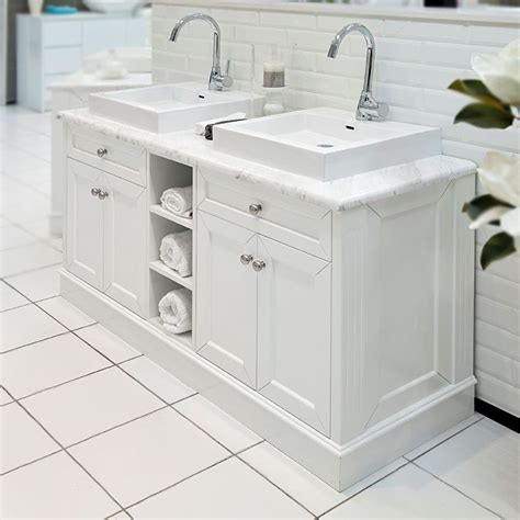 Marble Top Bathroom Cabinet by Classic 1500 Vanity Features Basin 32mm Marble Bench