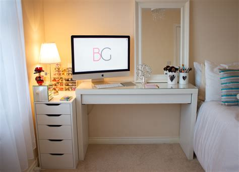 desk and vanity combo ideas room tour makeup collection