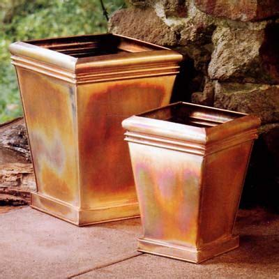 Copper Outdoor Planters by Copper Planters For The Home Copper Planters Planters